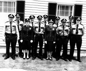 1962 Chatham Police Department. Front Row: Benjamin Nickerson, Jeanne Nickerson, Benjamin Rollins, Janet McIlvin, John Wagner, Clayton Buck. Back Row: Barry Eldredge, Edmund Harding, Jim Patterson, Rod MacDonald, Dave Nickerson. PHOTO COURTESY OF BENJAMIN ROLLINS JR./ PHOTO BY DICK KELSEY  (photo: )