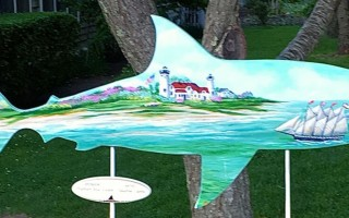 This shark, painted by Heather Labbe and sponsored by Chatham Real Estate, because the latest to be stolen last week. COURTESY PHOTO  (photo: )