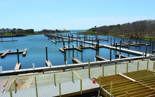 A view of the new docks and construction activities at Saquatucket Harbor. WILLIAM F. GALVIN PHOTO  (photo: William F. Galvin)