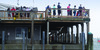 Plenty of people took advantage of the new fish pier observation deck on Friday, its first full day open in 18 months, to watch fishing boats offload their catch. TIM WOOD PHOTO  (photo: Tim Wood)