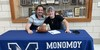 Monomoy senior Tyler Potter, right, poses with his brother Tony during his signing ceremony held April 13 at Monomoy Regional High School in Harwich. Potter will attend and play football at Westfield State University. PHOTO COURTESY KAREN GUILLEMETTE    (photo: )