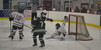 Cape Cod Furies goaltender Olivia Avellar, a Nauset freshman from Orleans, makes an acrobatic save during the Cape and Islands League Tournament quarterfinals Feb. 25 at Charles Moore Arena in Orleans. BRAD JOYAL PHOTO   
