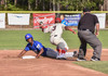 Chatham's Josh Stowers looks up after sliding into second past Cobie Vance before being deemed safe by the umpire. Kat Szmit Photo  (photo: )