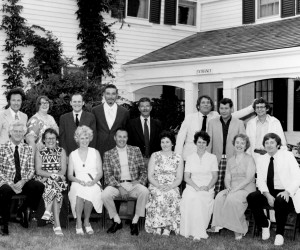 Chatham High School Class of 1950's 25th Class Reunion at The Country Inn. Front Row seated left to right-(Teacher) Richard Batchelder, Helen (Hammond)Tedford, Betsy (Buck) Bloomer, Jack Stacy, Joanne (MacDonald) Tweed, Esther (Forrest) Masson, Shirley (Gould) Jennings and Bob Ruggles. Back Row left to right-Ron Kelley, Anne (Hessler) Smith, Lewis Masson, Gene Rowland, Skip MacDougall, Carroll Farrenkopf, Ed Forgeron and Bob Belliveau. 1975.  PHOTO COURTESY OF RON KELLEY  (photo: )