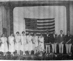 Chatham High School Class of 1925. Left to right: Georgia Cahoon, Josephine Guild, Margaret Cowan, Evelyn Mayo, Dorothy Coggeshall, Doris Harding, Ruth Small, Ella Nickerson, William Nickerson, Philip Guild, Carroll Cahoon, A. Francis Folger Jr. and Lewis Clark. PHOTO COURTESY OF RON KELLEY  (photo: )