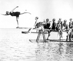 Swimming at Camp Quanset in the 1920s. PHOTO COURTESY OF Centers for Culture and History in Orleans    (photo: )