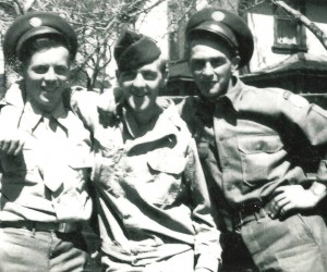 Robert Armstrong, Alvin Eldredge, and Roscoe (Rocky) Chase of Harwich, 1944.  Photo Courtesy of Wayne Coulson  (photo: )