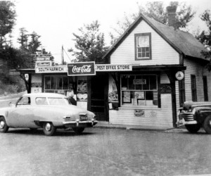 The Stokes Store run by Lafey Stokes from 1922-1948. Served as the SH Post Office, lunch counter, Western Union Office and public telephone. This picture was taken after Stokes Store and before building was rebuilt in 1953. PHOTO COURTESY OF CAROLYN BOGERT COOMBER  (photo: )