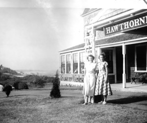 Mary Louise Francisco (right) in front of the Hawthorne Inn enjoying a girls weekend, 1947. PHOTO COURTESY OF ED ABBOTT  (photo: )