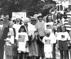 Eldredge Public Library members celebrated the 100th anniversary of the EPL in 1995 marching in the July 4th Parade, Chatham. PHOTO COURTESY OF JOAN AUCOIN  (photo: )