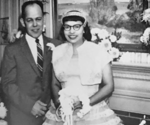 Everett Wilson Freethy and Shirley Enid James on their wedding day October 19, 1957 at the home of Bernice Haley in Chatham. Photo courtesy of Naomi Freethy  (photo: )