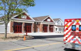 The new fire station is virtually ready for occupancy, except that telephone lines haven't been installed.  (photo: Alan Pollock)