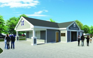 An artistic rendering shows what the proposed Monomoy High concession stand might look like upon completion, providing the necessary money can be raised at this Friday's fundraiser. PHOTO COURTESY OF J.W. DUBIS AND SONS  (photo: )