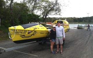 Adventurers Cindy Way and James Caple at Ryder's Cove landing. TOM LEACH PHOTO  (photo: TOM LEACH)