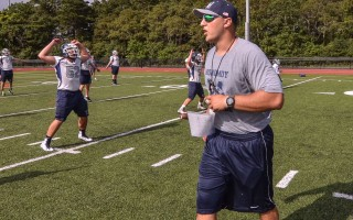 Monomoy football coach Ross Jatkola will be heading to Connecticut in the coming months to become the assistant football coach at Cheshire Academy.  (photo: Kat Szmit)