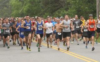 Runners set off in the 2013 Chatham Harbor Run, the last run before repairs on the Mitchell River Bridge got under way. The race returns to Chatham on June 26. Eric Adler Photo  (photo: Eric Adler)