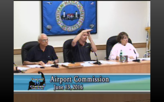 Chatham Airport Commission Chairman Peter Donovan calls for a halt to videotaping of Monday's meeting after an audience member refused to relinquish the podium. CHANNEL 18/TOWN OF CHATHAM SCREENSHOT  (photo: )