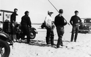 Surf fishing at Monomoy Point, October 1938.  (photo: )