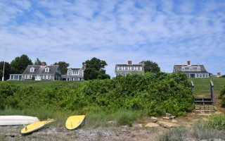 "The so-called ""Three Sisters"" off Champlain Road overlooking Chatham's Stage Harbor. While the buildings in the center and on the right will be undergoing some changes, the overall look of the iconic homes from the water won't change much, representatives of the property owners say. TIM WOOD PHOTO  (photo: )"