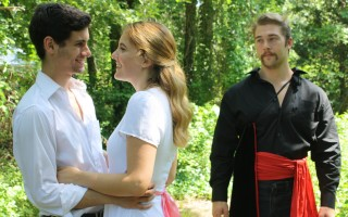 "Tyler Pisano, Caroline Jackson and Jack Plozay in Monomoy Theatre's ""The Fantasticks."" DAWNIELLA SINDER PHOTO  (photo: )"