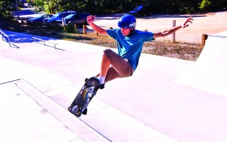 The Chatham skate park reopened last December, and skaters like Nick Cafarelli have been impressed by its flow. 
