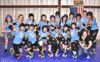The Cape Cod Salty Dolls, part of Cape Cod Roller Derby, celebrated their first-ever home bout last Saturday night. Kat Szmit Photo 