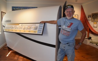 Don St. Pierre with the reproduction of the front-end compartment of the CG36500 that he built which is on display at the Atwood House Museum. He will give tours of the exhibit during a special benefit at the museum Sunday. TIM WOOD PHOTO  (photo: )