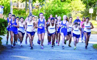 The Monomoy girls set out against St. John Paul II at the start of their race on Tuesday, Oct. 11. Kat Szmit Photo  (photo: Kat Szmit)
