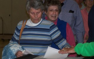 Taking steps to address water quality issues, voters approach the ballot box at town meeting Monday. ED MARONEY PHOTO  (photo: )