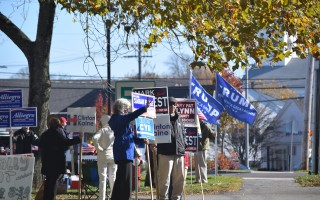 Supporters of Democrats and Republicans greeted voters at the Chatham Community Center Tuesday. TIM WOOD PHOTO  (photo: )