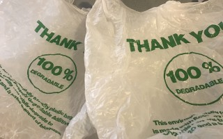 Businesses will no longer be able to use single-use plastic bags like these in Chatham after Jan. 1. TIM WOOD PHOTO 