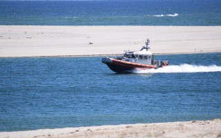 Chatham Coast Guard 42-foot near-shore lifeboat in the Chatham Harbor channel. FILE PHOTO  (photo: )