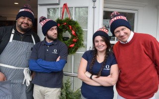 The staff of the Chatham Orpheum Theater model the new commemorative Chatham Stroll hat. From left: Johnny Martinez, Geoff Bassett, Sarah McDonald, and Kevin McLain. TIM WOOD PHOTO  (photo: )