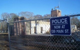 Demolition began on the Orleans Police Station in 2016. A new station will be built on the same site in the coming year. ED MARONEY PHOTO  (photo: )