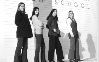 Dorothy Raymond, Lynn Noll, Cynthia Small, and Jill Miller were part of the 1970 group of Chatham High School students  who petitioned for the wearing of slacks by girls. January 1970. FILE PHOTO  (photo: )