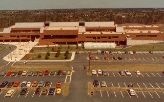 An old aerial photo shows Cape Cod Tech near the time it was first built. The school's building committee recently voted approval for a new building. Photo Courtesy of Cape Cod Tech  (photo: )