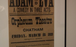 A poster advertising a local theater company at the Orpheum Theatre in 1928.  (photo: )