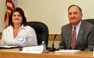 Selectman Amanda Love, left, and Chairman of Selectmen Jeffrey Dykens. FILE PHOTO  (photo: )