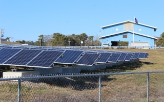 The solar array at the former Harwich landfill.  FILE PHOTO  (photo: William F. Galvin)