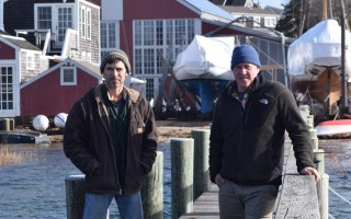 Jim Donovan, left, and Woody Metzger have taken over the Pease Brothers Boat Works and Marine Railway and rechristened it First Light Boat Works and Marine Railway. TIM WOOD PHOTO  (photo: )