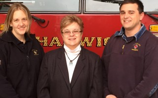 Harwich's Senior SAFE program is led by (from left) Fire Lieut. Leighanne Smith, Council on Aging Director Barbara-Anne Foley, and Firefighter-Paramedic Justin White. COURTESY PHOTO  (photo: Courtesy photo.)