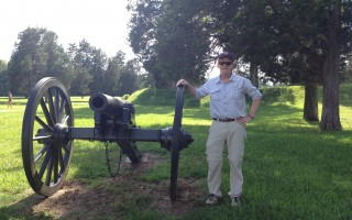 Monomoy High School history teacher Richard Houston at the site of the Battle of the Crater in Petersburg, Va. COURTESY PHOTO  (photo: )