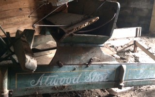 The Atwood Store's delivery sleigh, before it fell to pieces. COURTESY KEVIN WRIGHT  (photo: Kevin Wright)