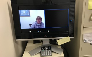 A Social Security worker is ready to video chat with a client at the Harwich Community Center. BARBARA-ANNE FOLEY PHOTO  (photo: Barbara-Anne Foley)