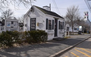 The Chatham Chamber of Commerce information booth and the surrounding streetscape could be in for a remake under a proposal now before selectmen. TIM WOOD PHOTO  (photo: )