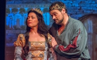 "Queen Guenevere (Sara Sneed) with King Arthur (Christopher Schultz) in The Academy of Performing Arts production of ""Camelot."" MICHAEL/SUZ KARCHMER PHOTO  (photo: )"