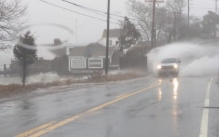 Heavy rain, high tides and surf flooded Route 28 in South Orleans. ALAN POLLOCK PHOTO  (photo: )