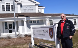 Peter Connick, Chatham's new fire chief, outside the department's new station on Depot Road. FILE PHOTO  (photo: Tim Wood)