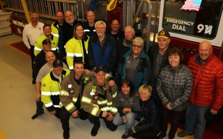 The first Chatham Citizens Fire Academy graduating class. From left, front row: Firefighters Tim Hunter, Bill Delande, Rich Shevery, Justin Tavano and Nick Black; participants Marilyn Wagner and Colleen Burgess. Back row Chief Michael Ambriscoe, participants Nick Ruggiere, firefighter Ryan Holmes, Stephen Daniel, firefighters Rachel McGrath and Bill Fields, participant Ed Dzialo, Captain David DePasquale, participants Tad Kucera, Kitty Belliveau, David Lauretto, Carol Boyce and Tim Weller. Missing from photo: participant Mary Beth Daniel. COURTESY PHOTO  (photo: )
