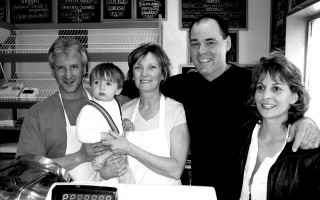 Rick and Michelle Crean with grandson Jason Metters and Brian and Alice Lenda. The Crean's had just purchased the Chatham Village Cafe from the Lenda's. May 2005. FILE PHOTO  (photo: )